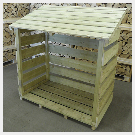 Small Log Store for Kiln Dried Logs